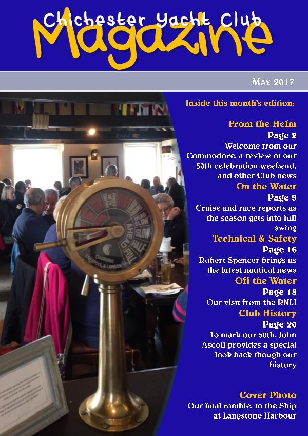 Chichester Yacht Club Magazine May 2017