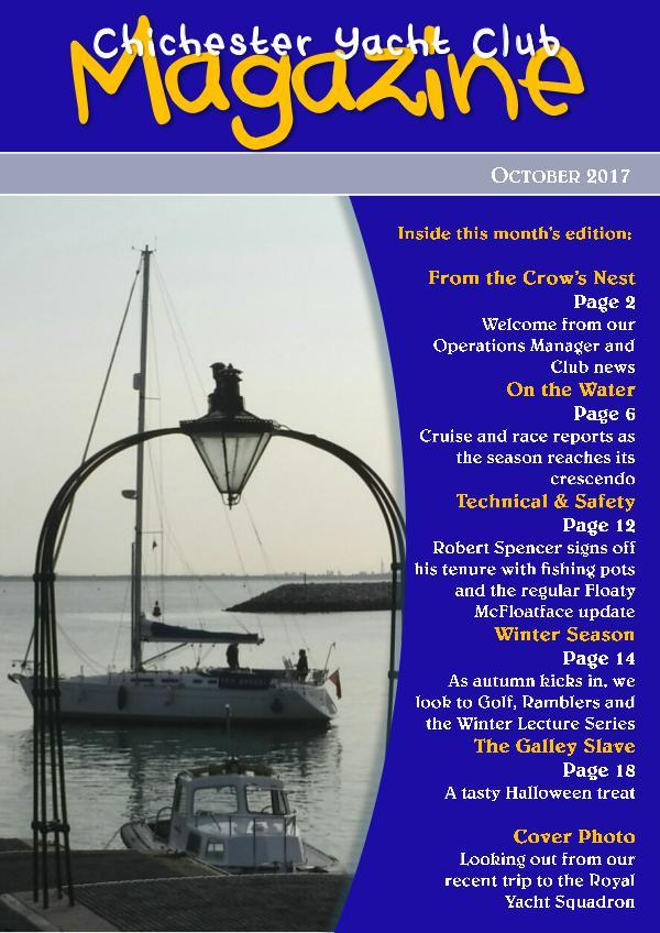 Chichester Yacht Club Magazine October 2017