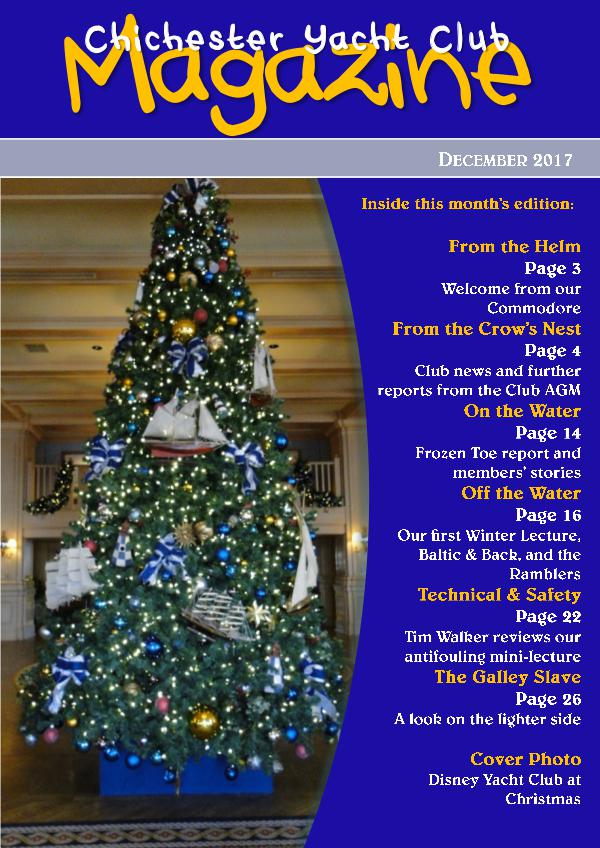 Chichester Yacht Club Magazine December 2017
