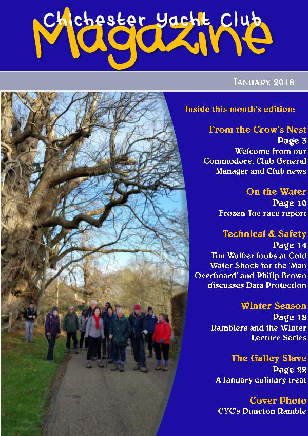 Chichester Yacht Club Magazine January 2018