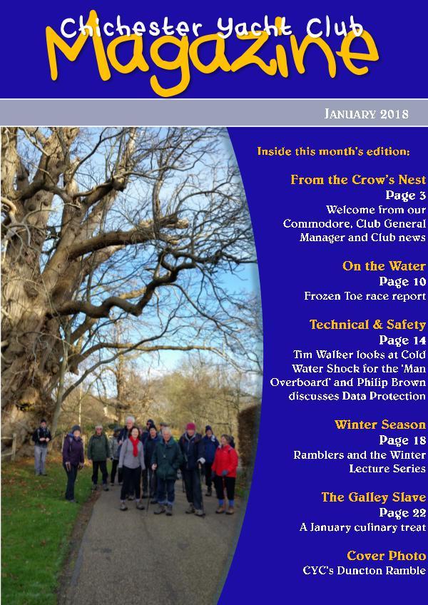 Chichester Yacht Club Magazine January 2018