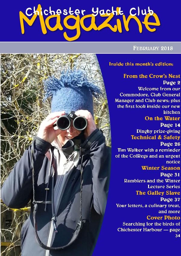 Chichester Yacht Club Magazine February 2018