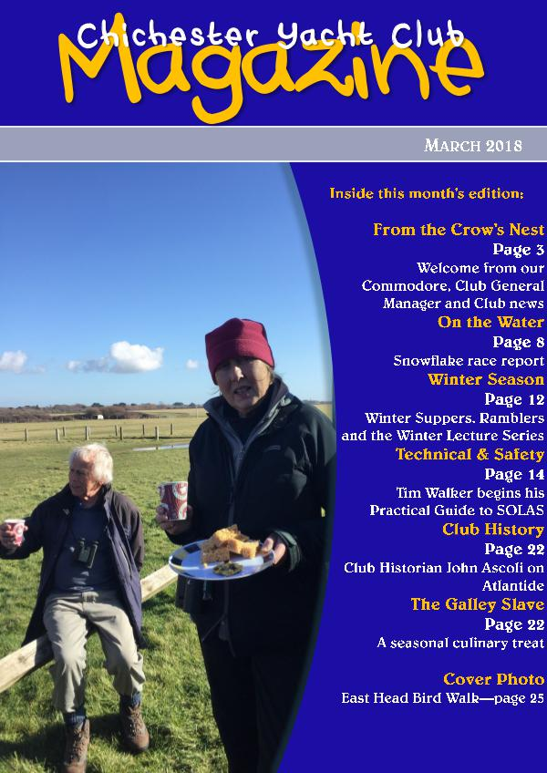 Chichester Yacht Club Magazine March 2018
