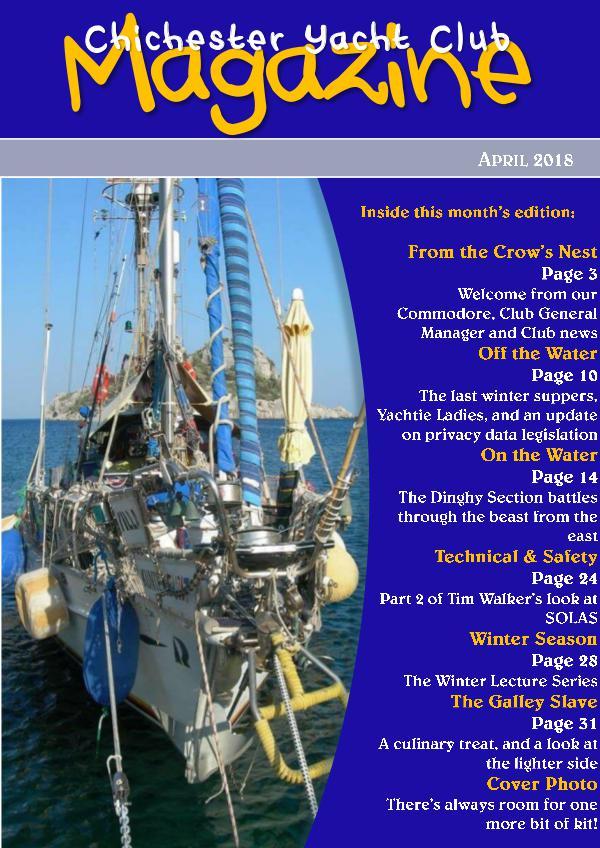 Chichester Yacht Club Magazine April 2018
