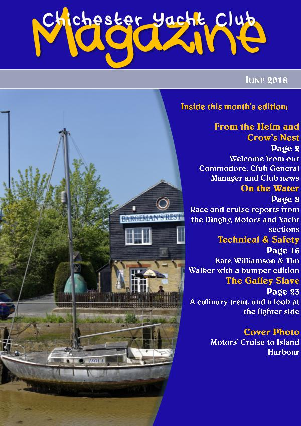 Chichester Yacht Club Magazine June 2018