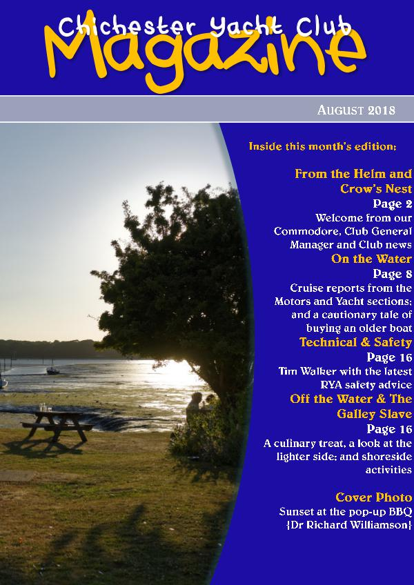 Chichester Yacht Club Magazine August 2018