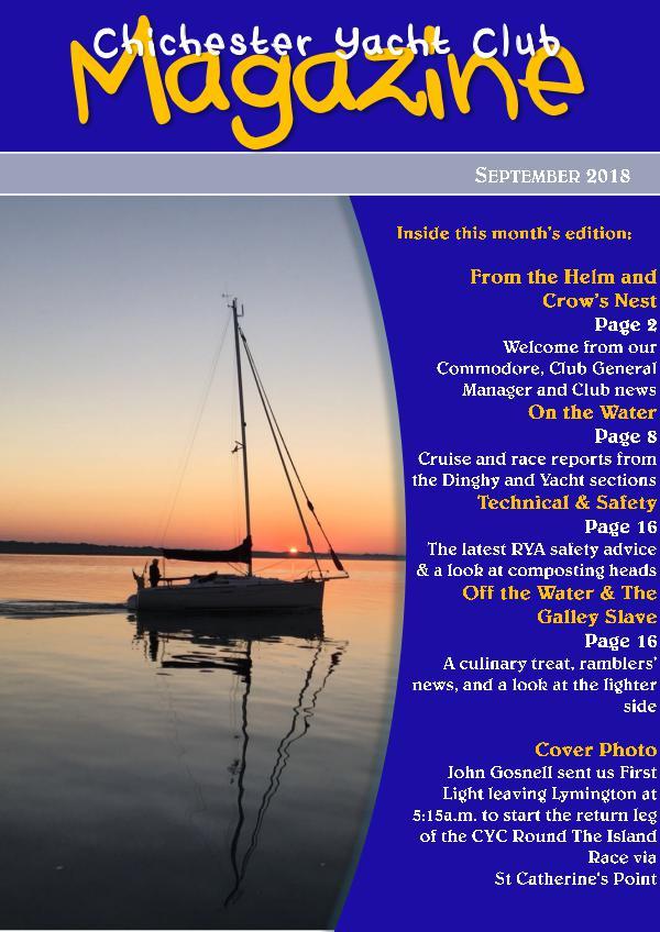 Chichester Yacht Club Magazine September 2018