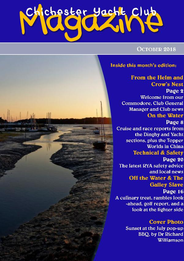 Chichester Yacht Club Magazine October 2018
