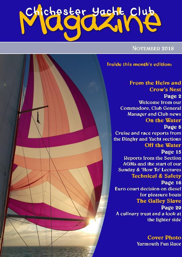 Chichester Yacht Club Magazine November 2018