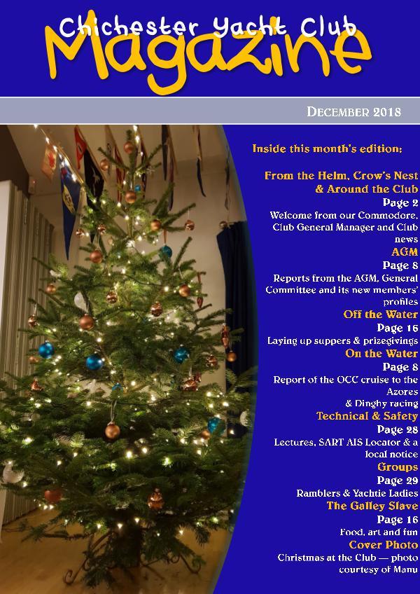 Chichester Yacht Club Magazine December 2018