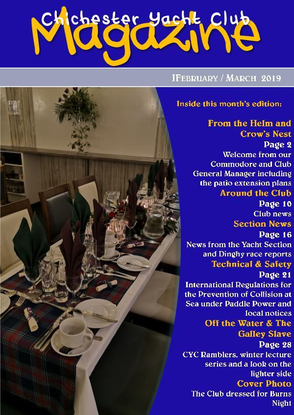 Chichester Yacht Club Magazine February / March 2019