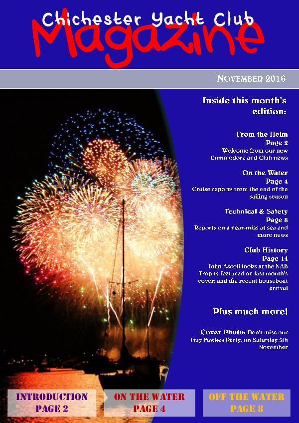 Chichester Yacht Club Magazine November 2016