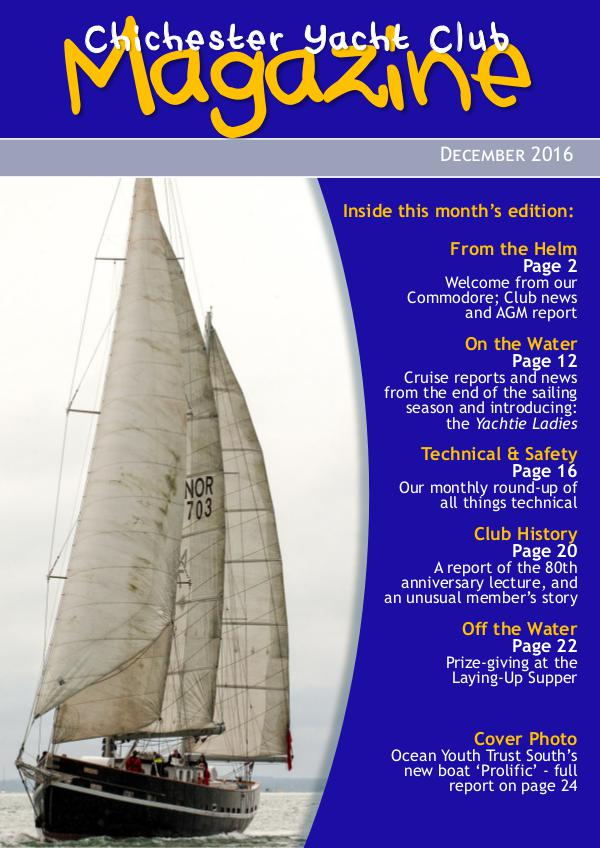 Chichester Yacht Club Magazine December 2016