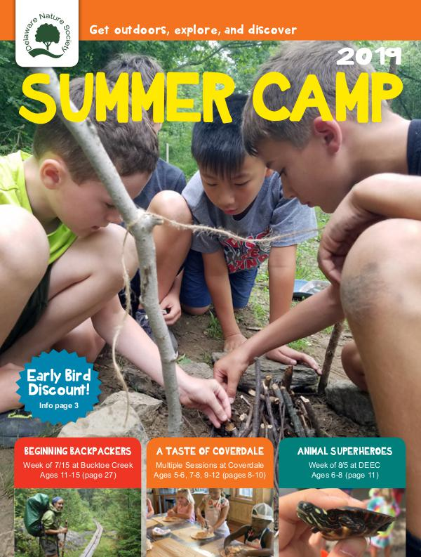 Delnature Program Guide Summer Camp Guide 2019