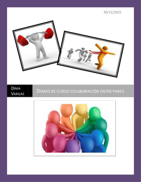Diario curso colaboración entre pares para la educación