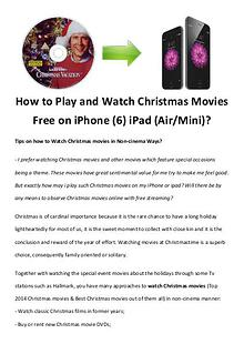 Best Christmas Movies/Songs How to Play and Watch Christmas Movies Free on iPhone (6) iPad (Air/M