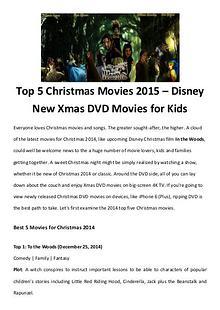 Best Christmas Movies/Songs Top 5 Christmas Movies 2015 – Disney New Xmas DVD Movies for Kids