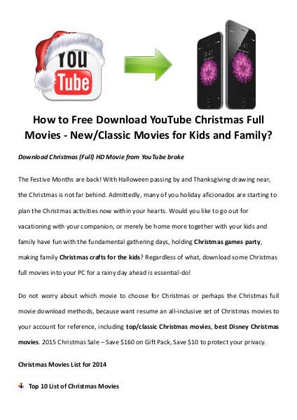 Best Christmas Movies/Songs How to Free Download YouTube
