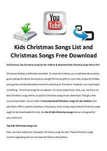 Best Christmas Movies/Songs Kids Christmas Songs List and  Christmas Songs Free Download