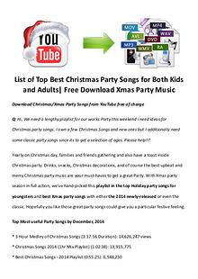 Best Christmas Movies/Songs List of Top Best Christmas Party Songs for Both Kids and Adults| Free