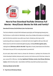 Best Christmas Movies/Songs How to Free Download YouTube Christmas Full Movies-New/Classic Movies