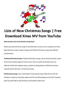 Best Christmas Movies/Songs Lists of New Christmas Songs | Free Download Xmas MV from YouTube