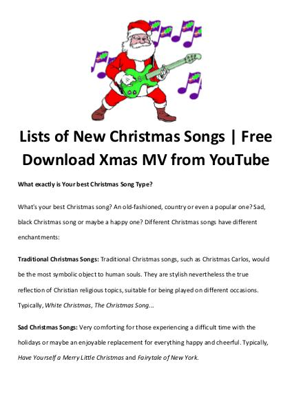 Best Christmas Movies Songs Lists Of New Christmas Songs Free