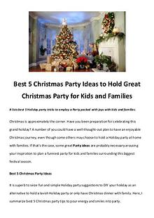 Best Christmas Movies/Songs Best 5 Christmas Party Ideas to Hold Great Christmas Party for Kids a