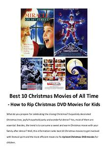 Best Christmas Movies/Songs Best 10 Christmas Movies of All Time - How to Rip Christmas DVD Movie