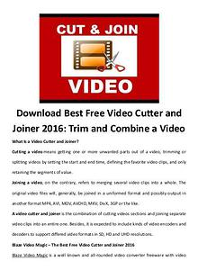 software tips Download Best Free Video Cutter and Joiner 2016: Trim and Combine a V
