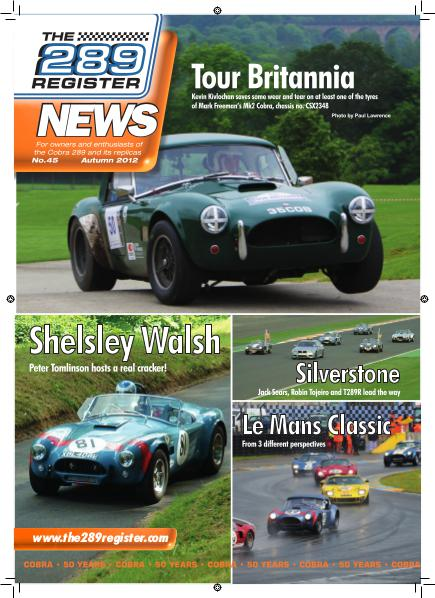The 289 Register News No 45 Autumn 2012