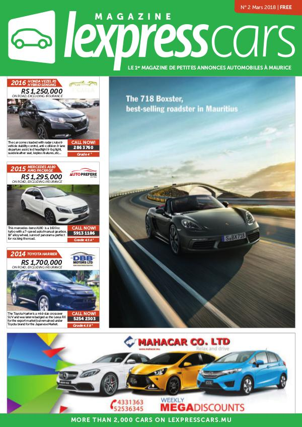 Lexpress Cars Magazine N°2 Mars 2018