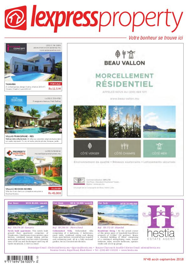 Lexpress Property Magazine N°48 Aout-Septembre 2018