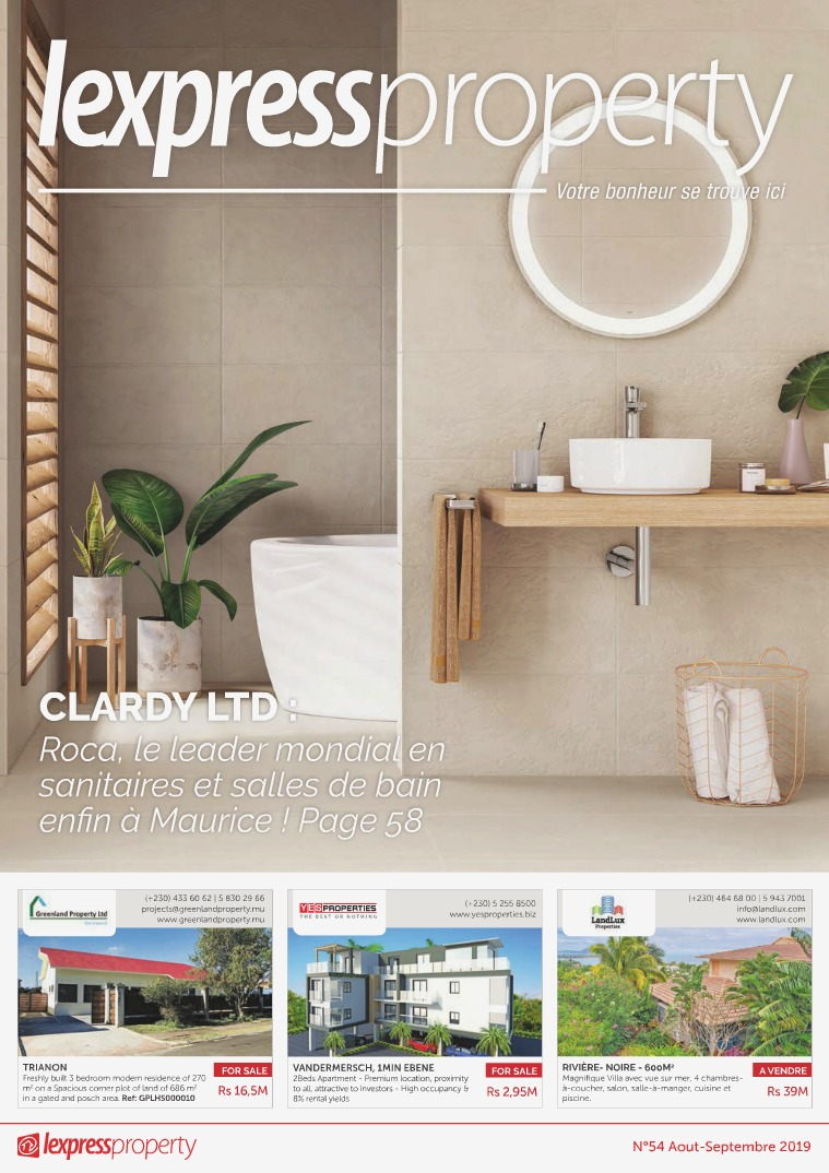 Lexpress Property Magazine N°54 Aout-Septembre 2019