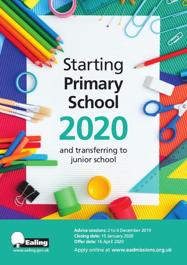 Primary School Prospectus EC8683 Primary School Prospectus 2020 PRINT
