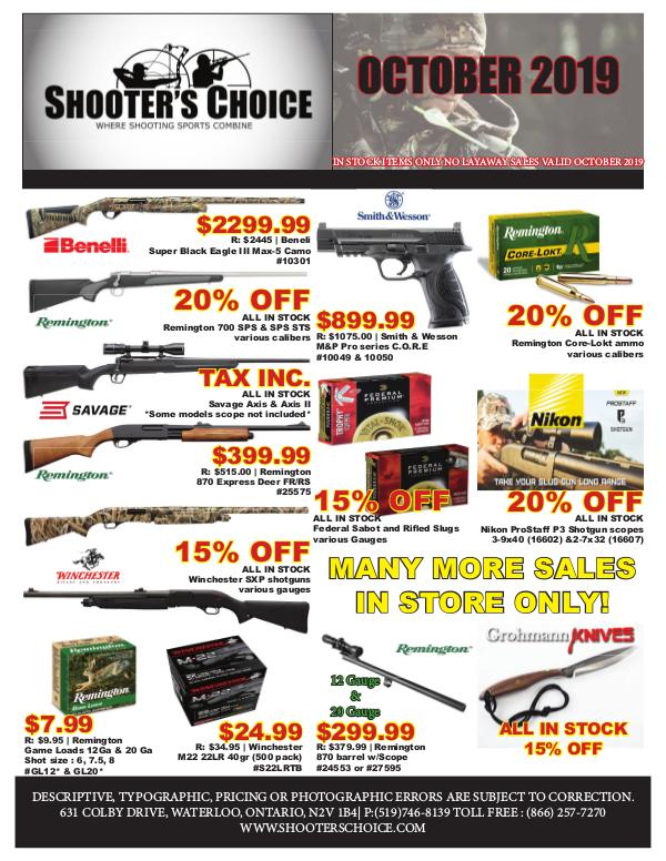Monthly Sales Flyer OCTOBER 2019