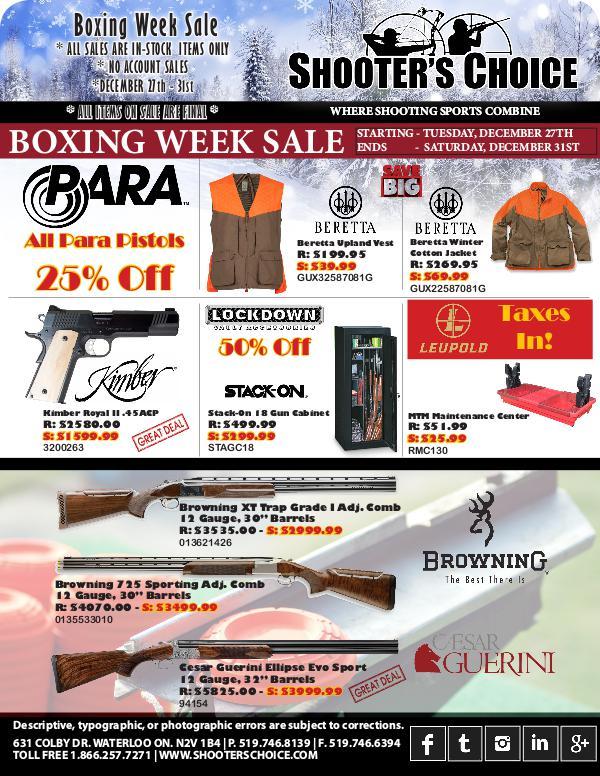 Boxing Week 2016 1