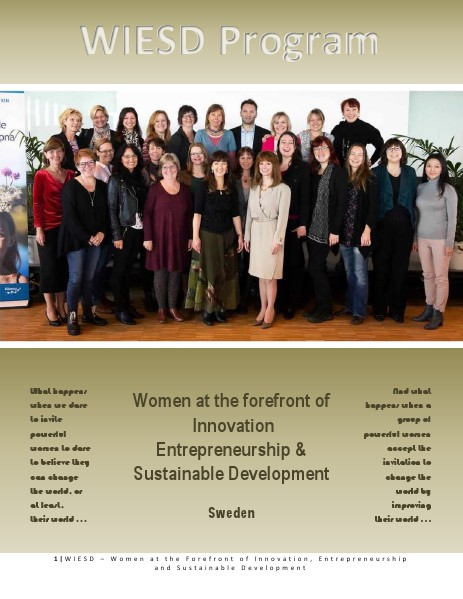 WIESD - Women at the Forefront of Innovation, Entrepreneurship & SD Edition 2013-2014