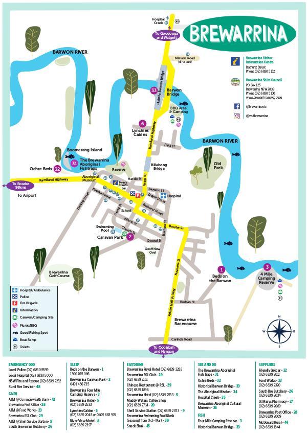 Brewarrina Town Map Brewarrina Town Map 2019