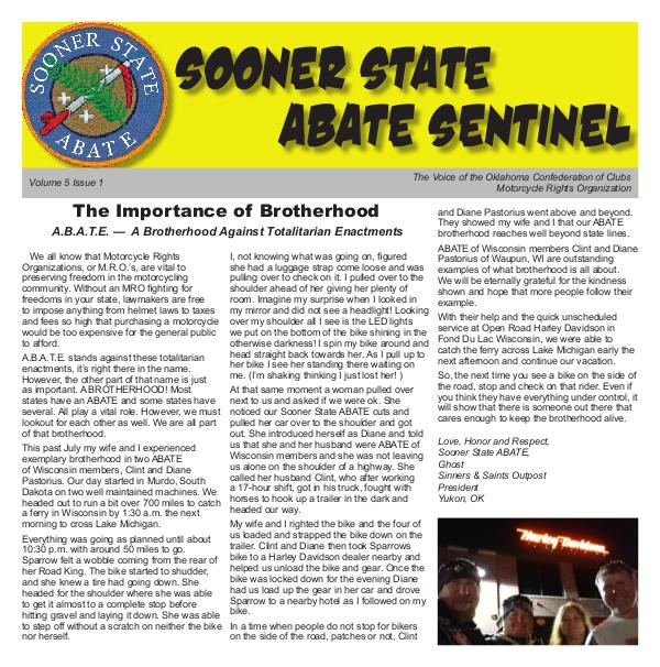 Sooner State Abate Vol 5 Issue 1