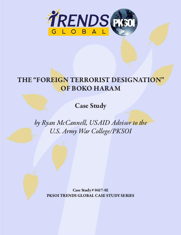 The Foreign Terrorist Designation of Boko Haram