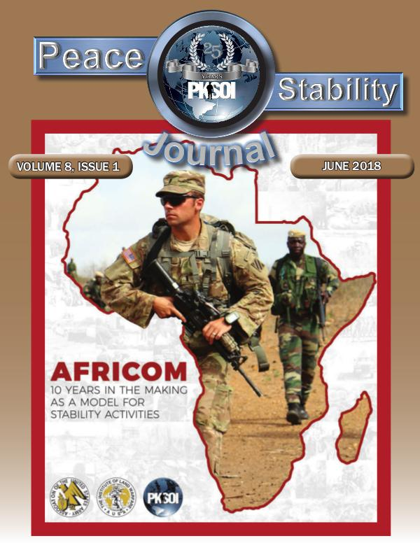 Peace & Stability Journal Volume 8, Issue 1