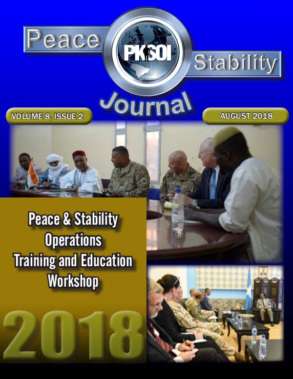 Peace & Stability Journal Volume 8, Issue 2