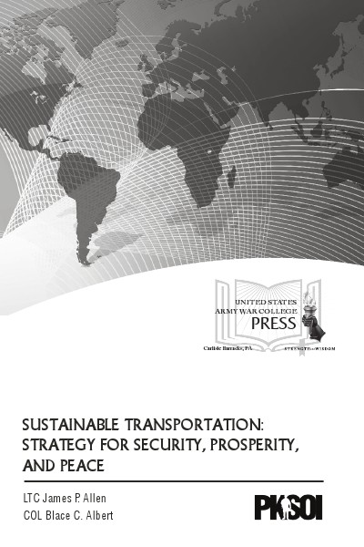 Sustainable Transportation: Strategy for Security, Prosperity, and Sustainable Transportation
