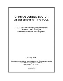 CRIMINAL JUSTICE SECTOR ASSESSMENT RATING TOOL