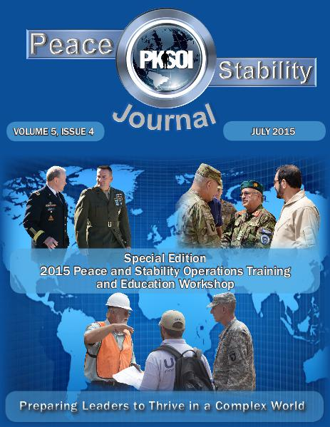 Peace & Stability Journal Volume 5, Issue 4