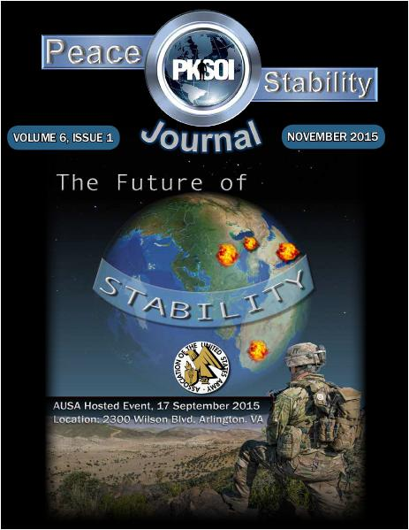 Peace & Stability Journal Peace & Stability Journal, Volume 6, Issue 1