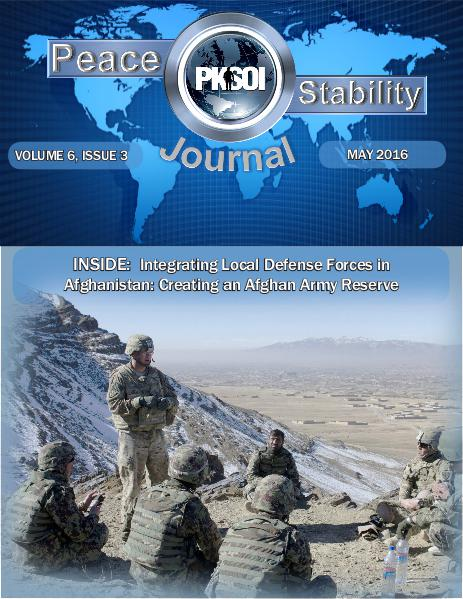 Peace & Stability Journal, Volume 6, Issue 3