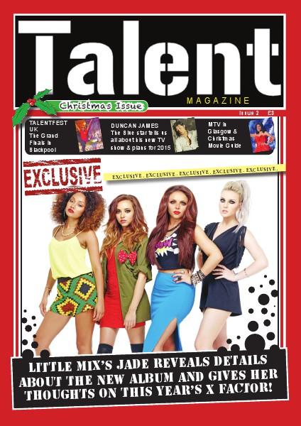 TALENT MAGAZINE CHRISTMAS ISSUE Jan. 2015