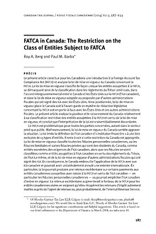 FATCA at Moodys Gartner Tax Law